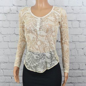 Intimately Free People sheer lace top